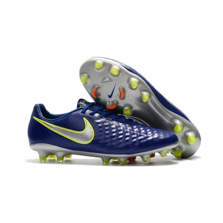 Scarpa da Calcio Nike Magista Opus II FG Terreni Uomo Blu Metallico