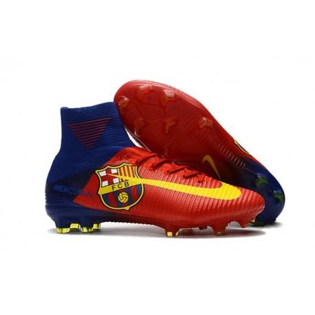 Nike Scarpa da Calcio Mercurial Superfly V FG ACC Barcelona - Rosso Blu