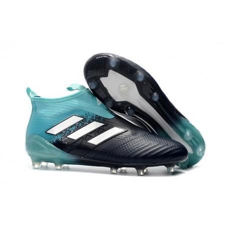 adidas Scarpe Ace17+ Purecontrol FG Uomo - Nero Blu Bianco