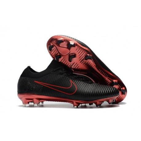Scarpe Calcio Nuovo Nike Mercurial Vapor Flyknit Ultra FG - Nero Rosso