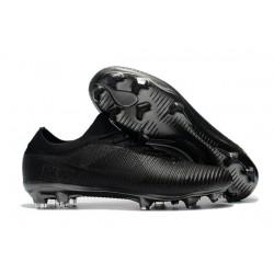 Scarpe Calcio Nuovo Nike Mercurial Vapor Flyknit Ultra FG - Tutto Nero