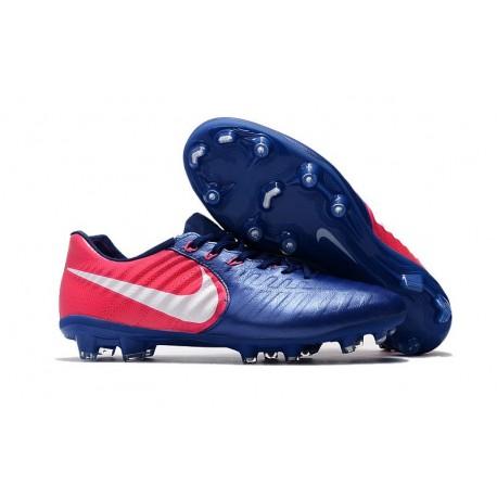 Scarpe da Calcio Nike Tiempo Legend VII FG Uomo - Blu Rosa