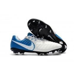 Scarpe da Calcio Nike Tiempo Legend VII FG Uomo - Bianco Blu