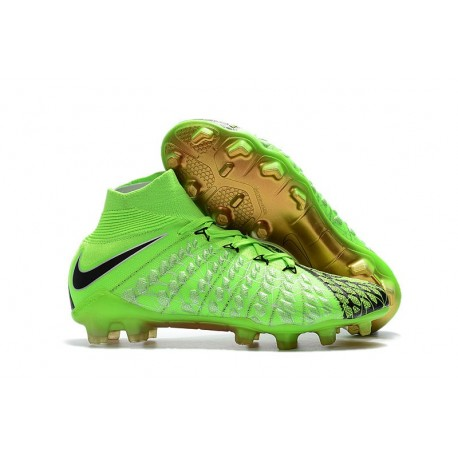 Scarpe da Calcio Terreni Compatti Nike Hypervenom Phantom III DF FG - Verde Nero