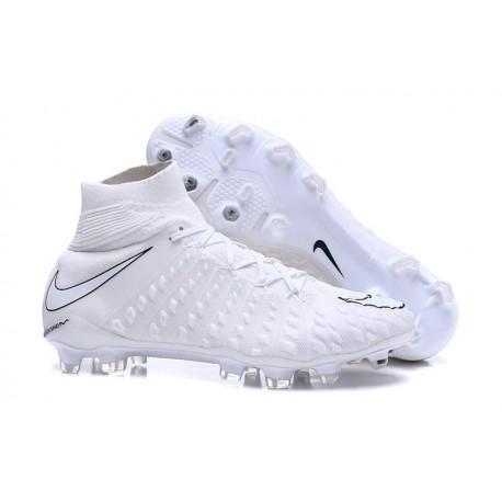 Scarpe da Calcio Terreni Compatti Nike Hypervenom Phantom III DF FG - Bianco