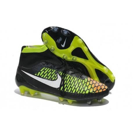 Scarpe da Calcio Uomo Nike Magista Obra FG Nero Verde Hyper Punch