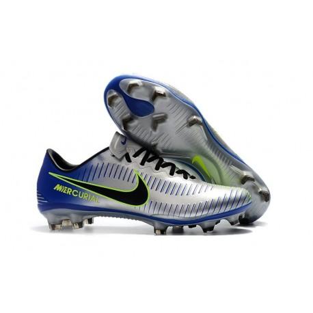 Scarpe Calcio Nuovo Nike Mercurial Vapor XI FG - Metallico Blu