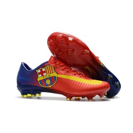 Scarpe Calcio Nuovo Nike Mercurial Vapor XI FG - Barcelona Rosso