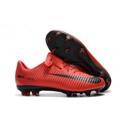 Scarpe Calcio Nuovo Nike Mercurial Vapor XI FG - Rosso Negro