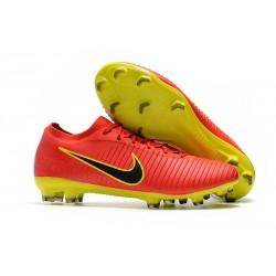 Scarpe Calcio Nuovo Nike Mercurial Vapor Flyknit Ultra FG - Rosso Giallo