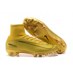 Nike Mercurial Superfly 5 Dynamic Fit FG Scarpe Oro