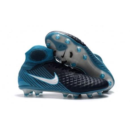 Nike Magista Obra II FG Scarpe da Calcio - Nero Blu