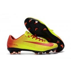 Scarpe Calcio Nuovo Nike Mercurial Vapor XI FG - Giallo Rosso
