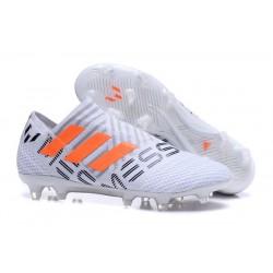 Scarpe da Calcio adidas Nemeziz Messi 17+ 360 Agility FG Bianco Arancio