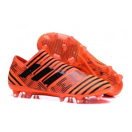 Scarpe da Calcio adidas Nemeziz Messi 17+ 360 Agility FG Arancio Nero