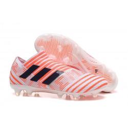 Scarpe da Calcio adidas Nemeziz Messi 17+ 360 Agility FG Bianco Arancio Nero