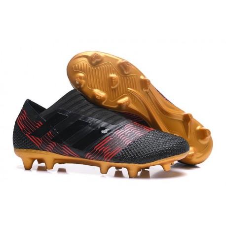 Scarpe da Calcio adidas Nemeziz Messi 17+ 360 Agility FG Nero Oro