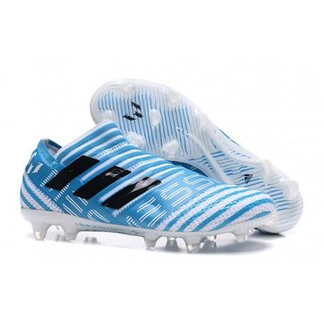 Scarpe da Calcio adidas Nemeziz Messi 17+ 360 Agility FG Bianco Blu