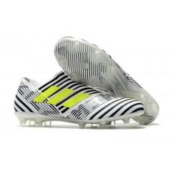 Scarpe da Calcio adidas Nemeziz Messi 17+ 360 Agility FG Nero Bianco Verde