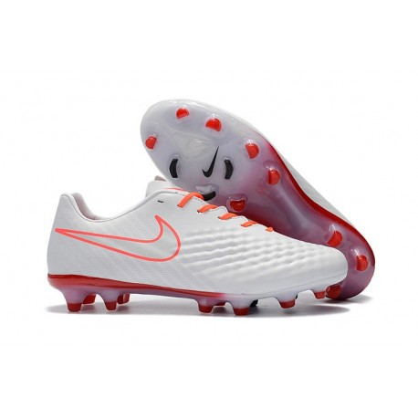 Scarpa da Calcio Nike Magista Opus II FG Terreni Uomo Bianco Arancio