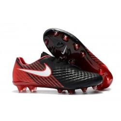 Scarpa da Calcio Nike Magista Opus II FG Terreni Uomo Nero Rosso