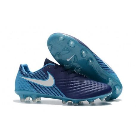 Scarpa da Calcio Nike Magista Opus II FG Terreni Uomo Blu Bianco
