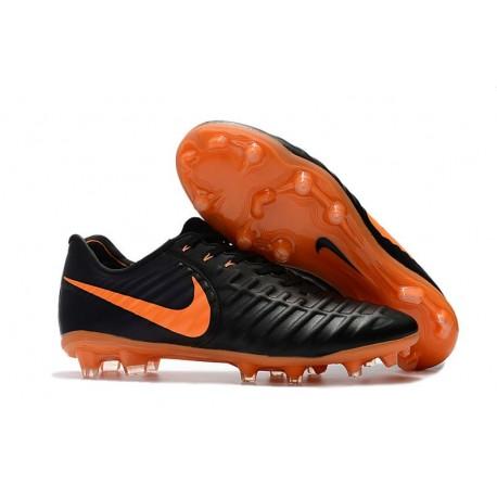 Scarpe da Calcio Nike Tiempo Legend VII FG Uomo -Nero Arancio