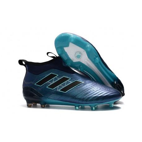 adidas Scarpe Ace17+ Purecontrol FG Uomo - Blu Nero