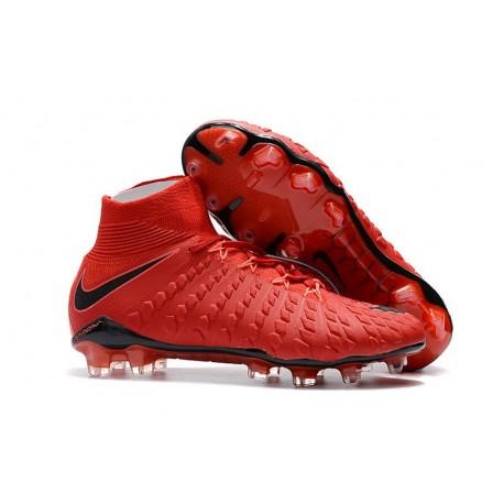 Scarpe da Calcio Terreni Compatti Nike Hypervenom Phantom III DF FG - Rosso Nero