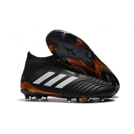 Scarpe da Calcio adidas Predator 18 + FG Uomo - Nero Bianco