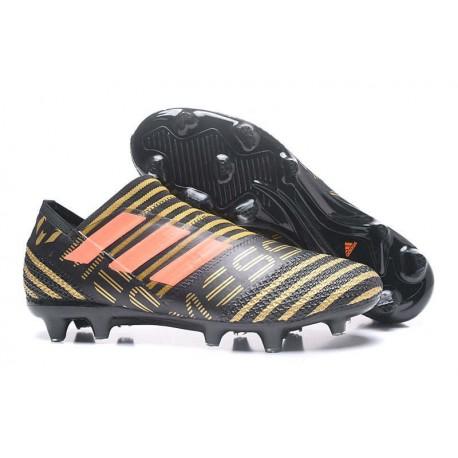 Scarpe adidas Nemeziz Messi 17+ 360 Agility Terreni Compatti - Nero Arancio
