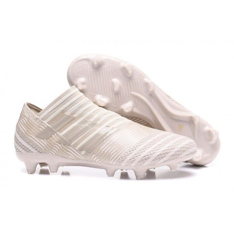 Scarpe adidas Nemeziz Messi 17+ 360 Agility Terreni Compatti - Bianco Grigio