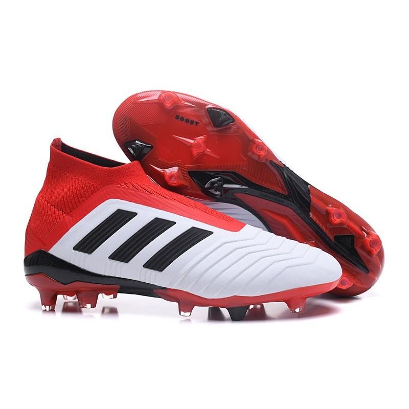 buy online 73ce1 19fc4 Scarpe da Calcio adidas Predator 18 + FG Uomo - Bianco Rosso Nero