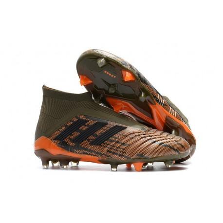 Scarpe da Calcio adidas Predator 18 + FG Uomo - Verde Arancio
