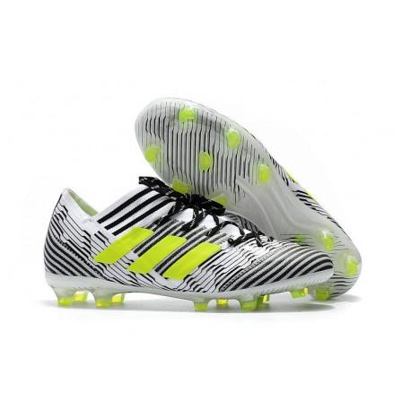 Scarpe Calcio adidas Nemeziz 17.1 FG - Nero Bianco Giallo