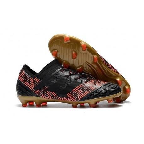 Scarpe Calcio adidas Nemeziz 17.1 FG - Nero Rosso Oro