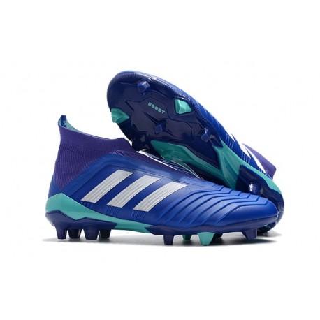 Scarpe da Calcio adidas Predator 18 + FG Uomo - Blu Bianco
