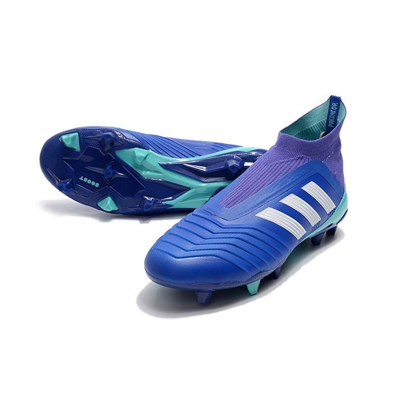 best service 59ad6 b0f01 Fg Predator Adidas 18 Scarpe Blu Da Uomo Bianco Calcio wtXqA7v