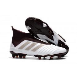 Scarpe da Calcio adidas Predator 18 + FG Uomo - Bianco Marrone