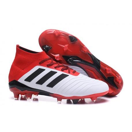 Scarpe da Calcio adidas Predator 18.1 FG Uomo - Bianco Rosso