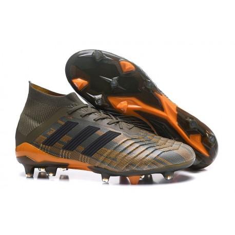 adidas Predator 18.1 FG Nuovo Scarpa Calcio - Verde Nero Arancio