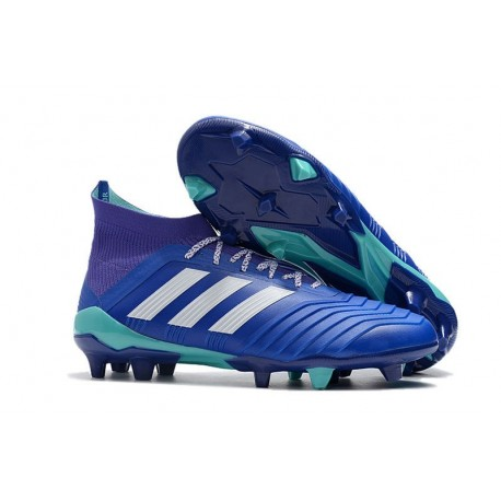 adidas Predator 18.1 FG Nuovo Scarpa Calcio - Blu Bianco