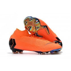 Scarpe da Calcio Nike Mercurial Superfly VI 360 Elite FG - Arancio Nero