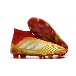 adidas Predator 18 + FG Nuova Scarpa Oro Rosso