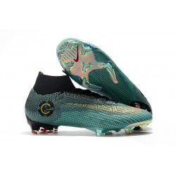 Scarpe Ronaldo Nike Mercurial Superfly VI 360 Elite CR7 FG - Blu Oro