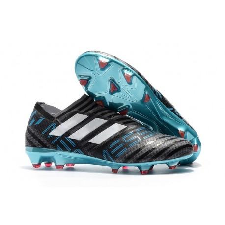 Scarpe adidas Nemeziz Messi 17+ 360 Agility Terreni Compatti - Nero Blu Bianco