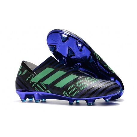 Scarpe adidas Nemeziz Messi 17+ 360 Agility Terreni Compatti - Nero Viola Verde