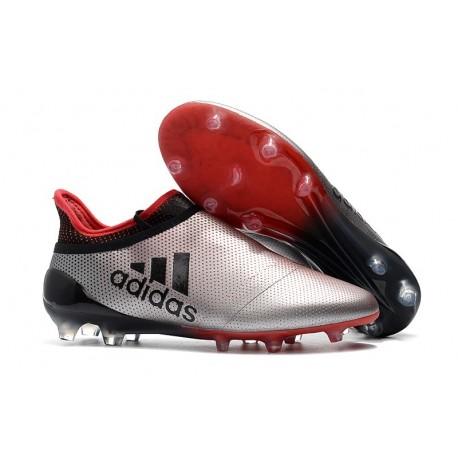 adidas Nuovo Scarpa X 17+ Purespeed FG Argento Rosso
