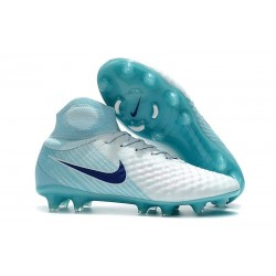 Nike Magista Obra II FG Scarpe da Calcio - Bianco Blu