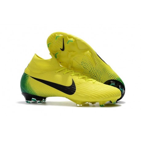 Scarpe Ronaldo Nike Mercurial Superfly VI 360 Elite CR7 FG - Giallo Nero